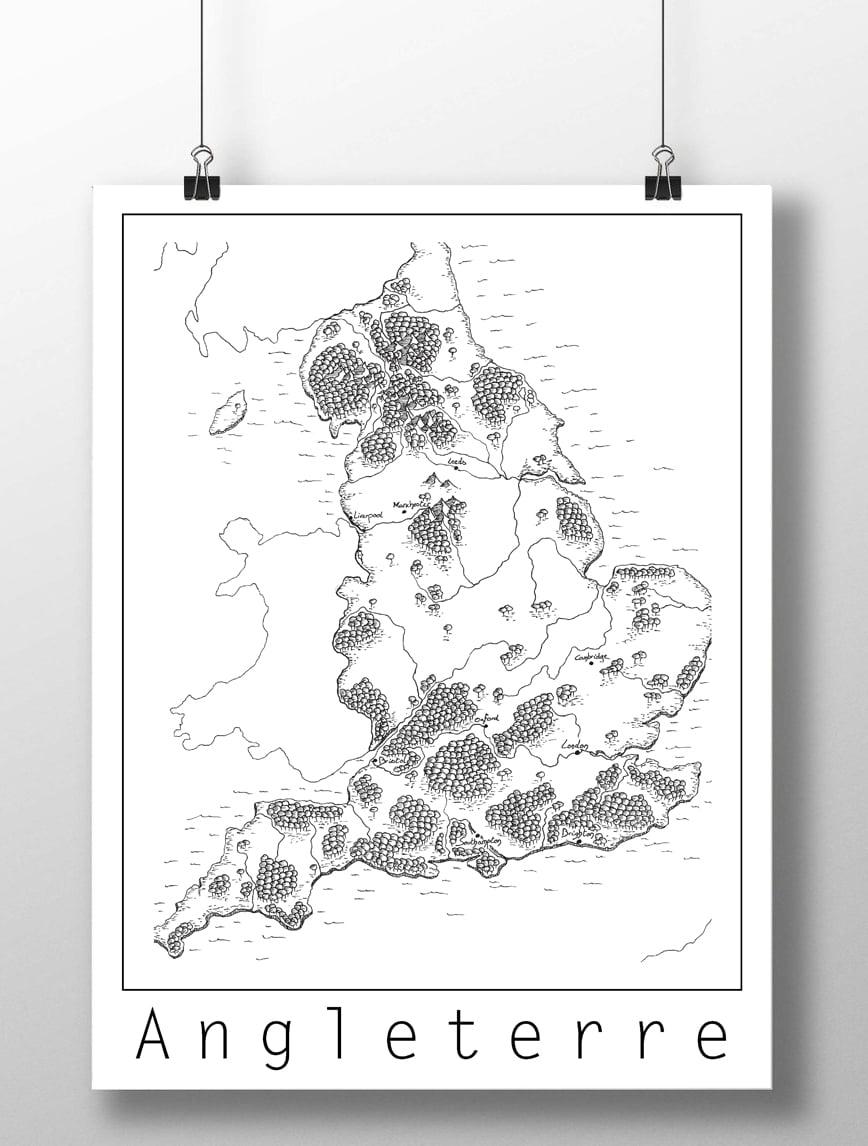 Image of Carte de l'Angleterre