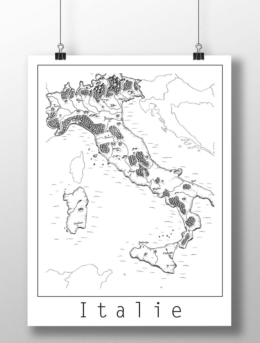 Image of Carte de l'Italie