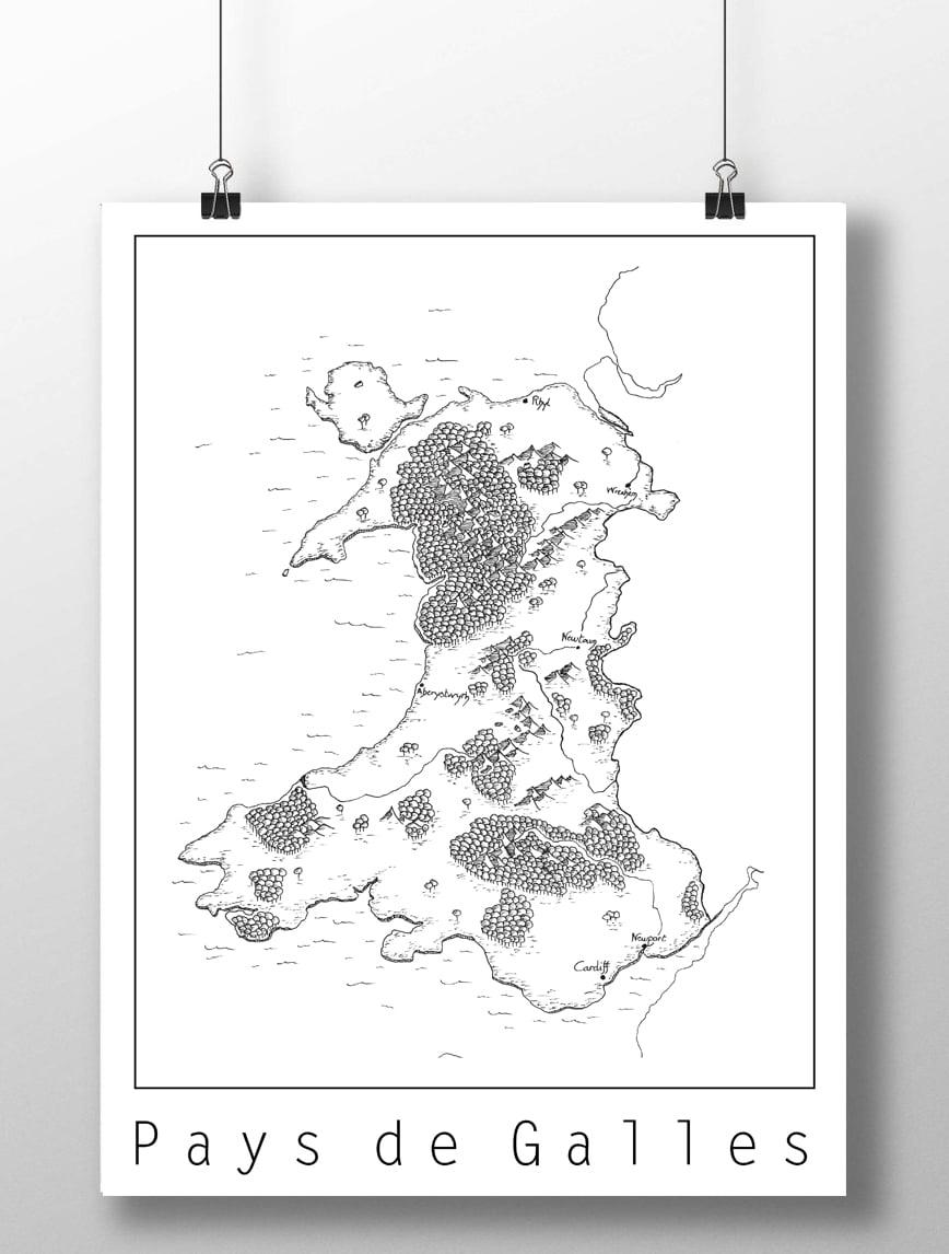 Image of Carte du pays de Galles