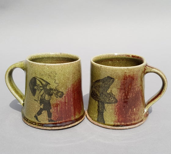 Image of The earth-dweller Mug. Limited edition Red blush