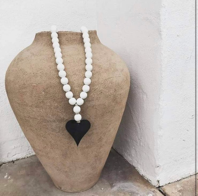 Image of ORIGINAL LOVE BEADS - WHITE HEART