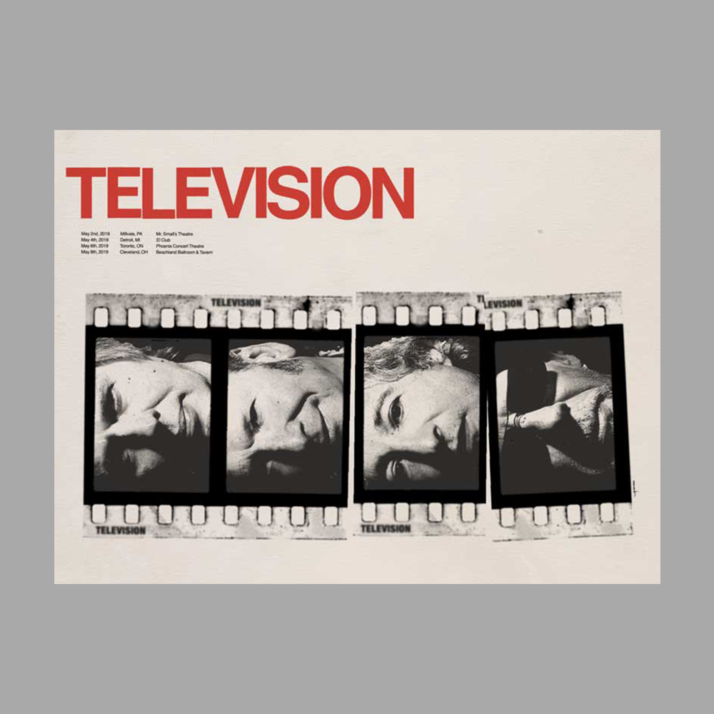 Image of Television - 2019 Spring Tour Poster