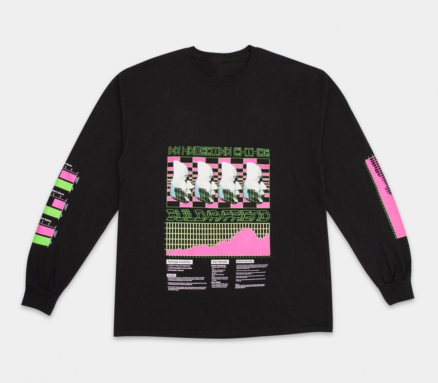 Image of An Uncertain Future L/S Tee Black