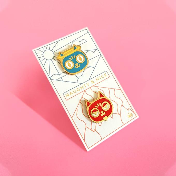Image of Naughty & Nice Pin Set