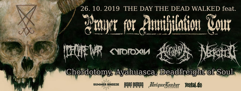 Image of The Day the Dead Walked Festival - feat. Prayer For Annihilation Tourstop Augsburg - TICKET