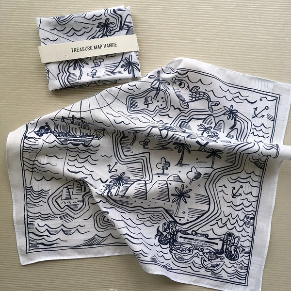 Image of Treasure Map Hankie