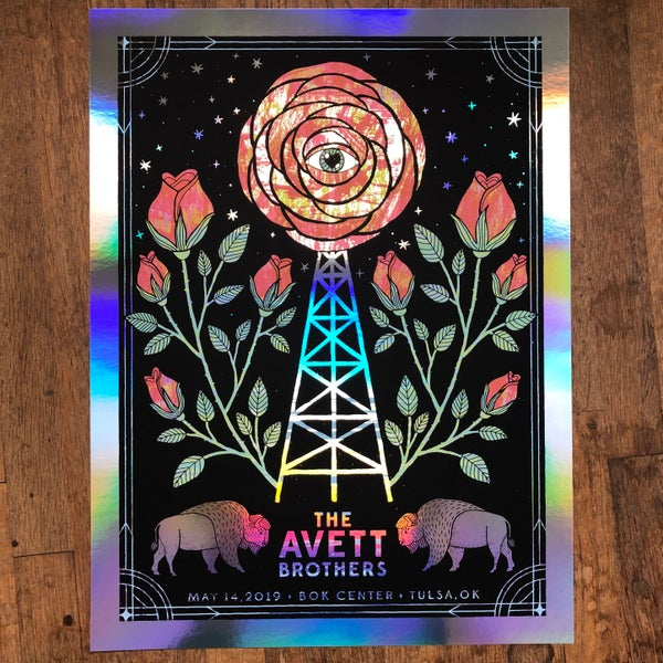 Image of The Avett Brothers Tulsa 5.14.2019 Foil Variant