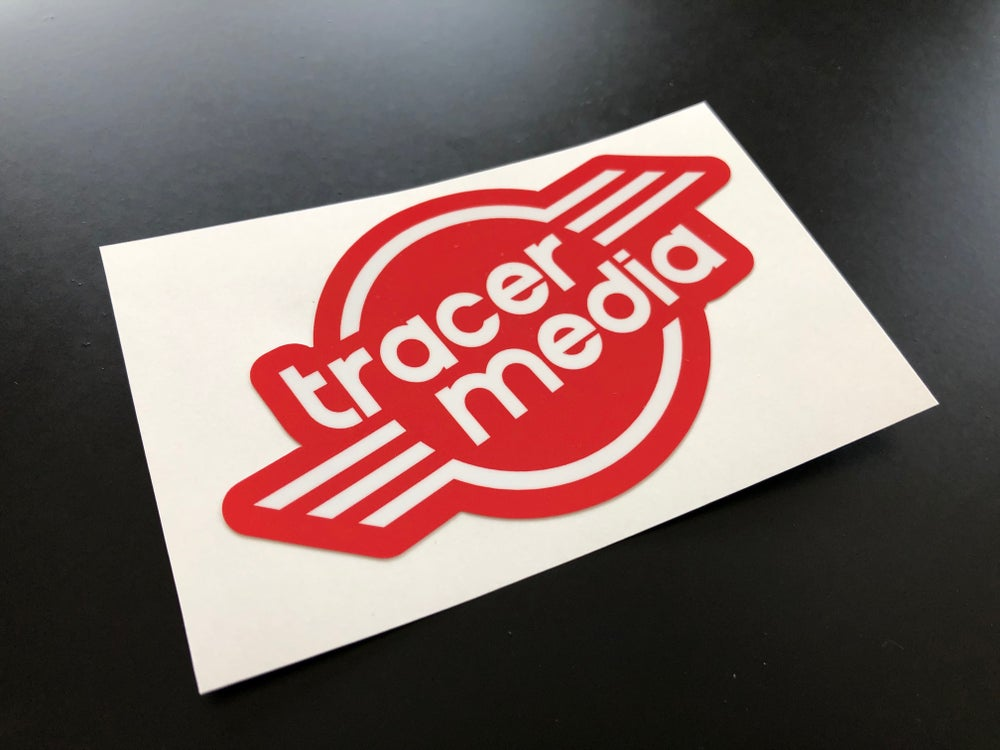 """""""tracer media"""" printed decal"""