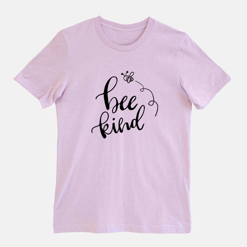 Image of Honeybee Bee Kind Inspirational Lilac T-Shirt