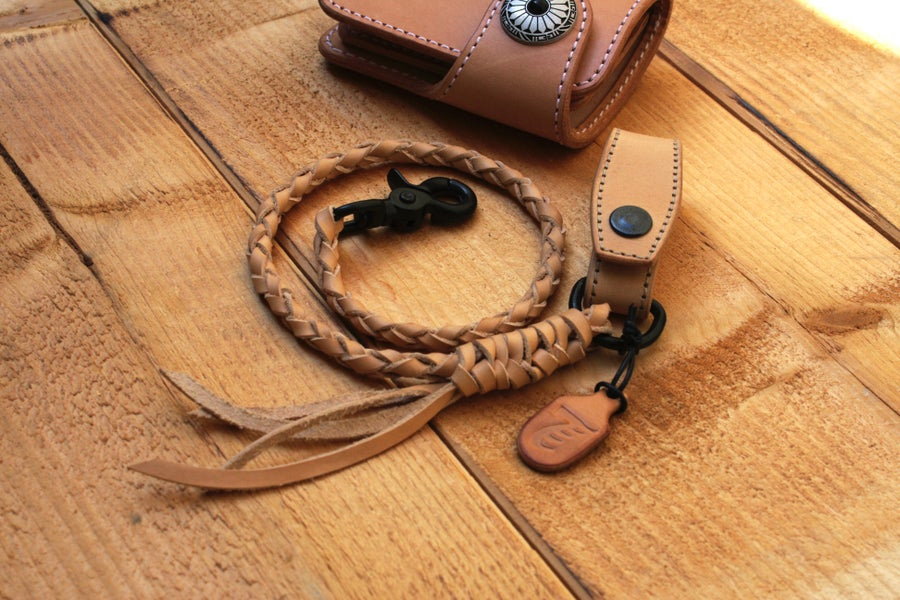 Image of BRAIDED LANYARD WITH BELT HOLDER black matt