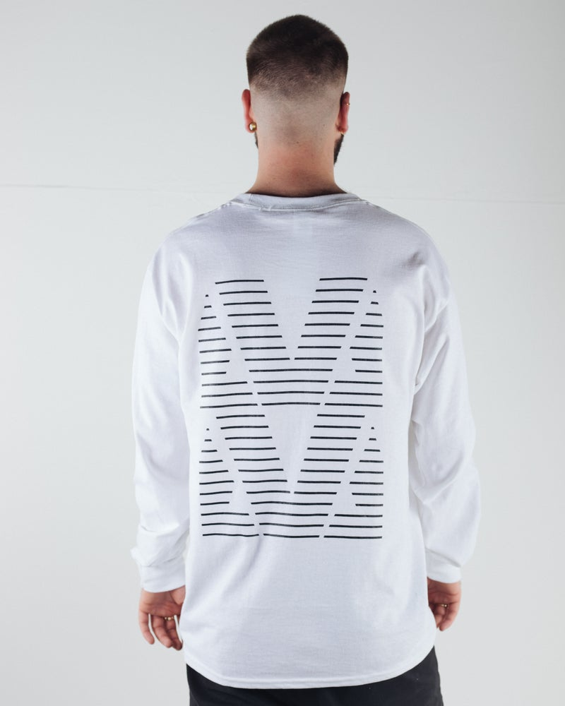 Image of AVA LTD Edition Lines 2 Long Sleeve Tee - White
