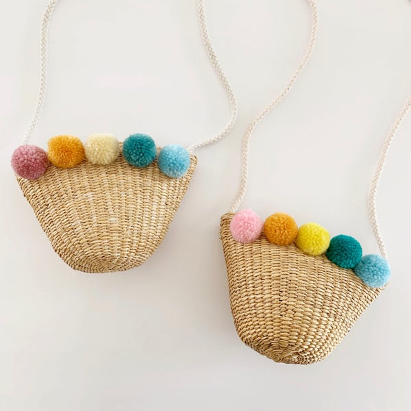 Image of Rainbow Pom Purses