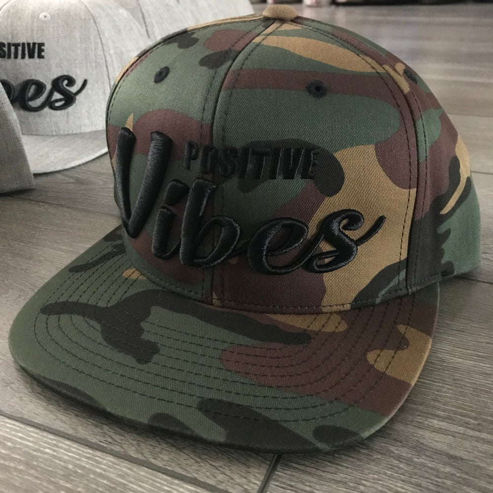 Image of ***RESTOCKED*** Positive Vibes Camo Snapback Hats
