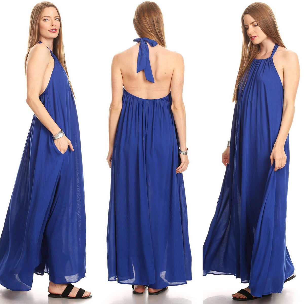 "Image of The ""Summer Vibes"" Maxi Dress-Royal"