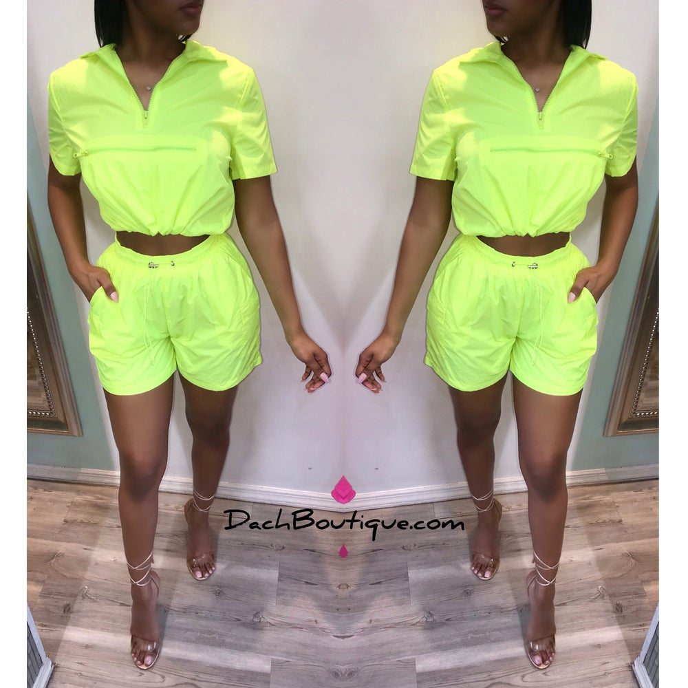 Image of Neon Short Set