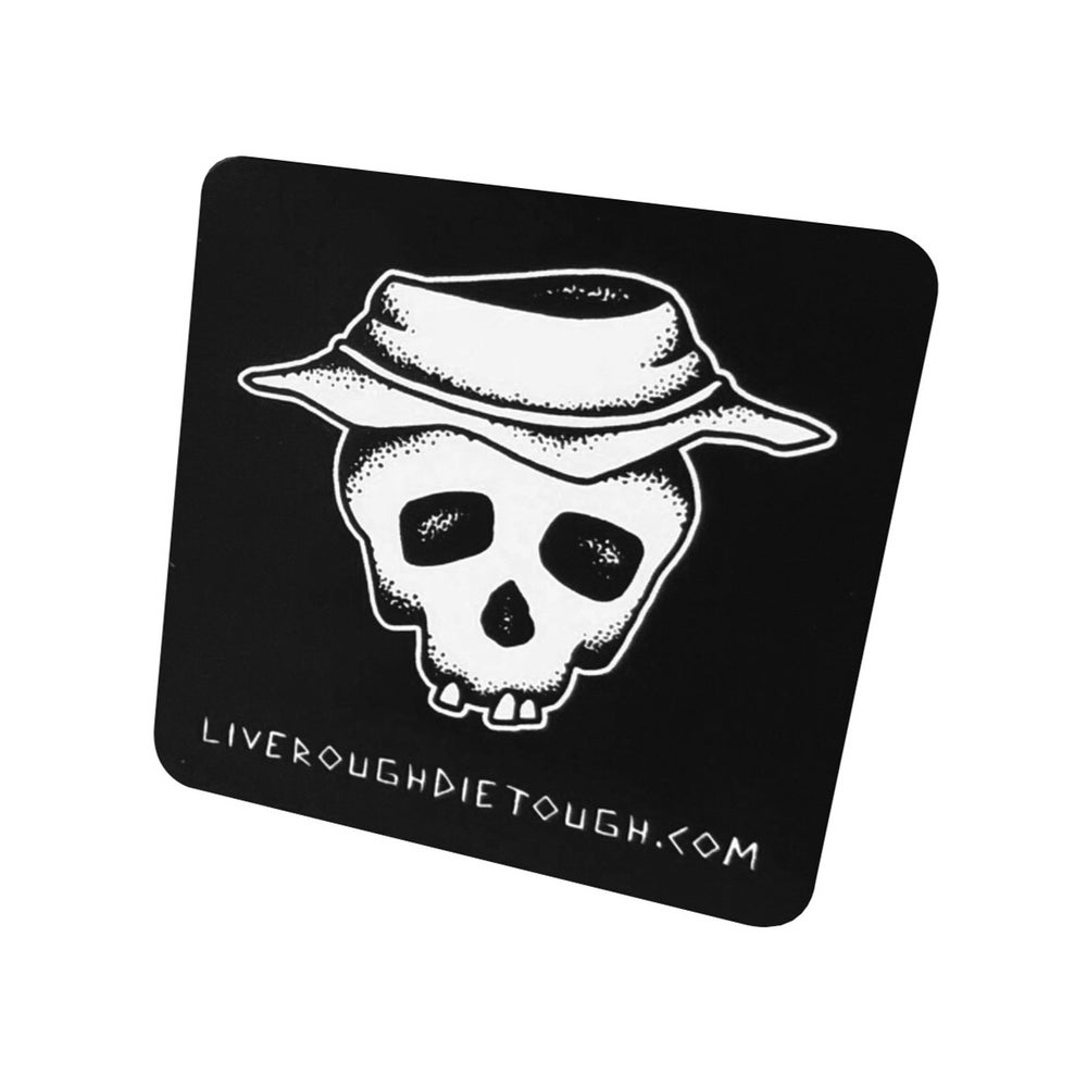 "Image of Black ""Booney Skull"" Sticker"