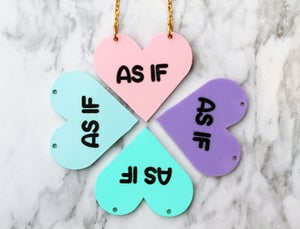 Sample Sale 'As If' Candy Heart Necklaces - Black Heart Creatives