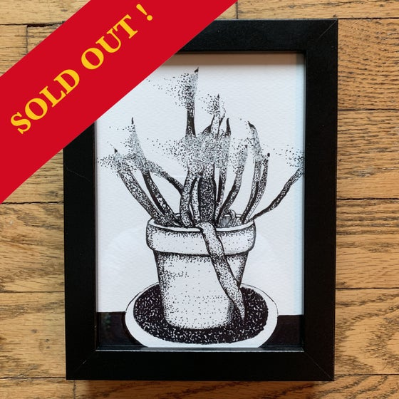"Image of ""Disintegration 001"" Framed Original Drawing"