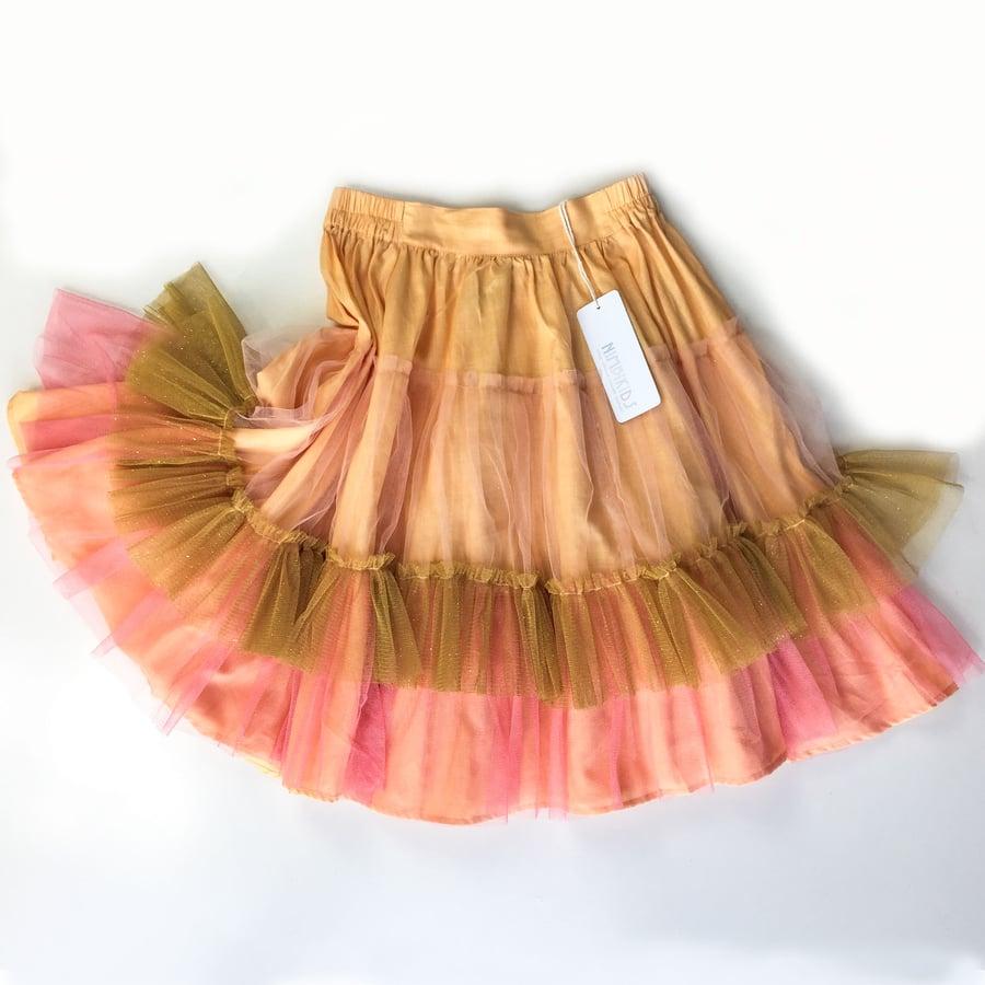 Image of Wonderland Tulle Skirt - Hibiscus Peach Meringue