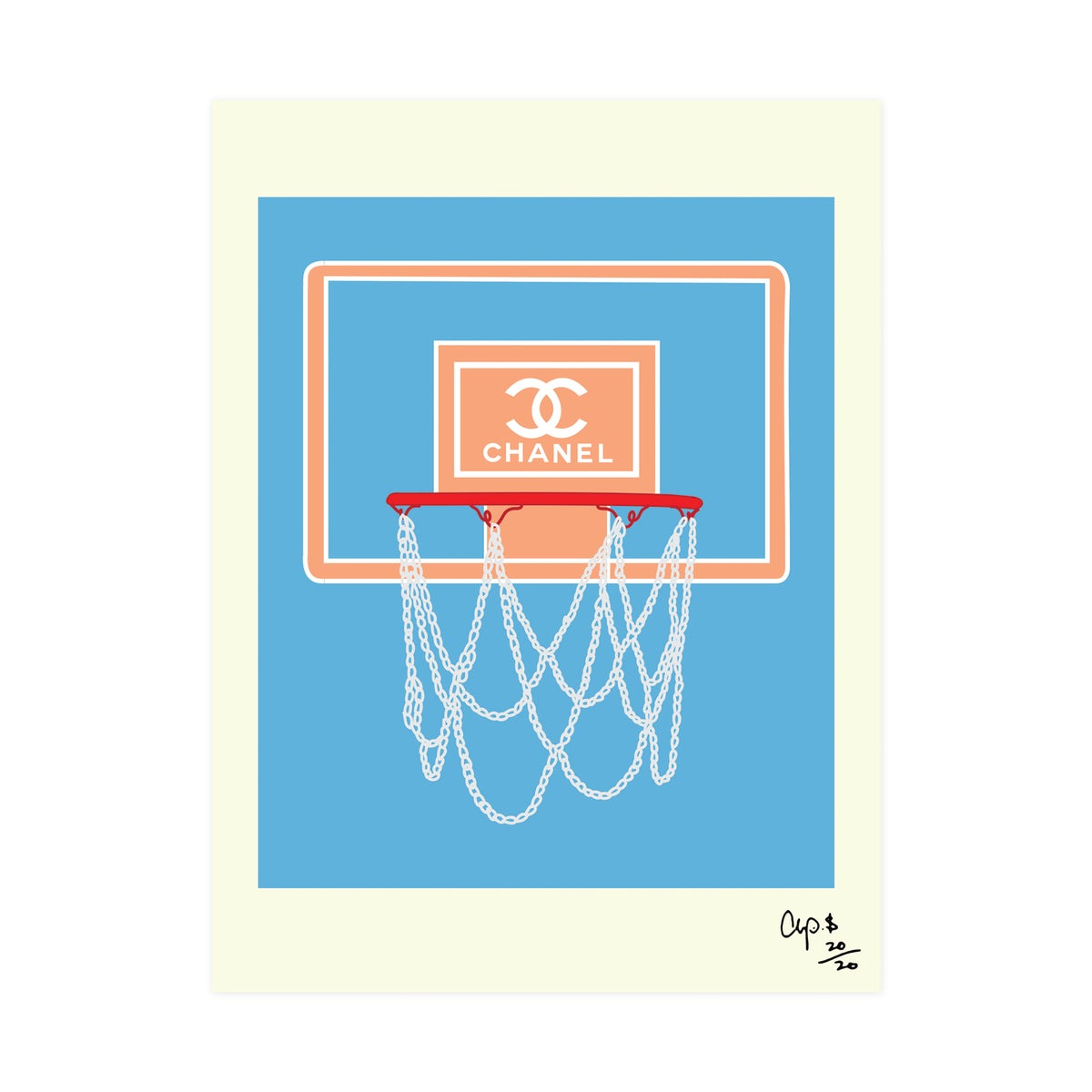 Image of Chanel Basketball Hoop