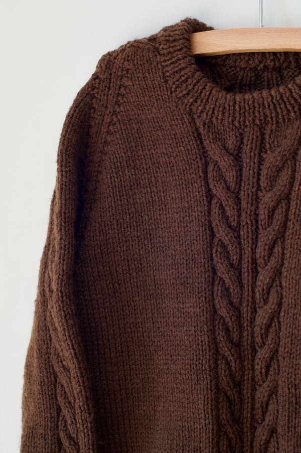 Image of Knitted Jersey - Chocolate