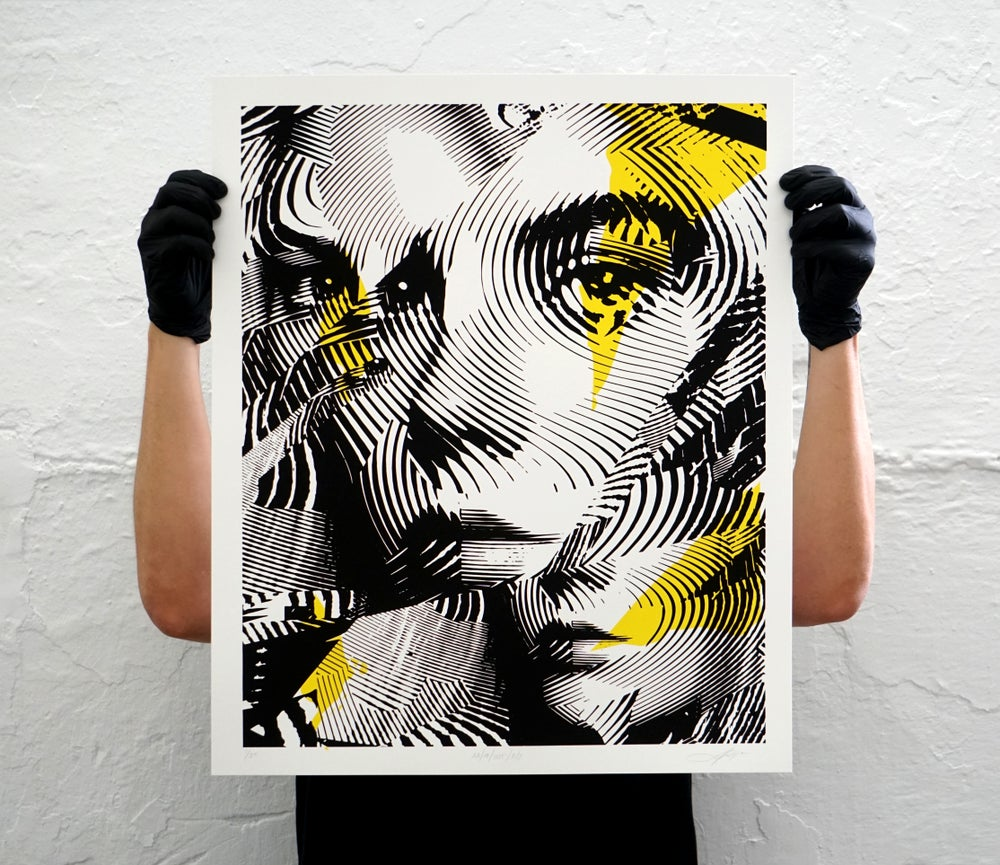 Image of PRINT 2 AA/18 005 / BLACK / YELLOW