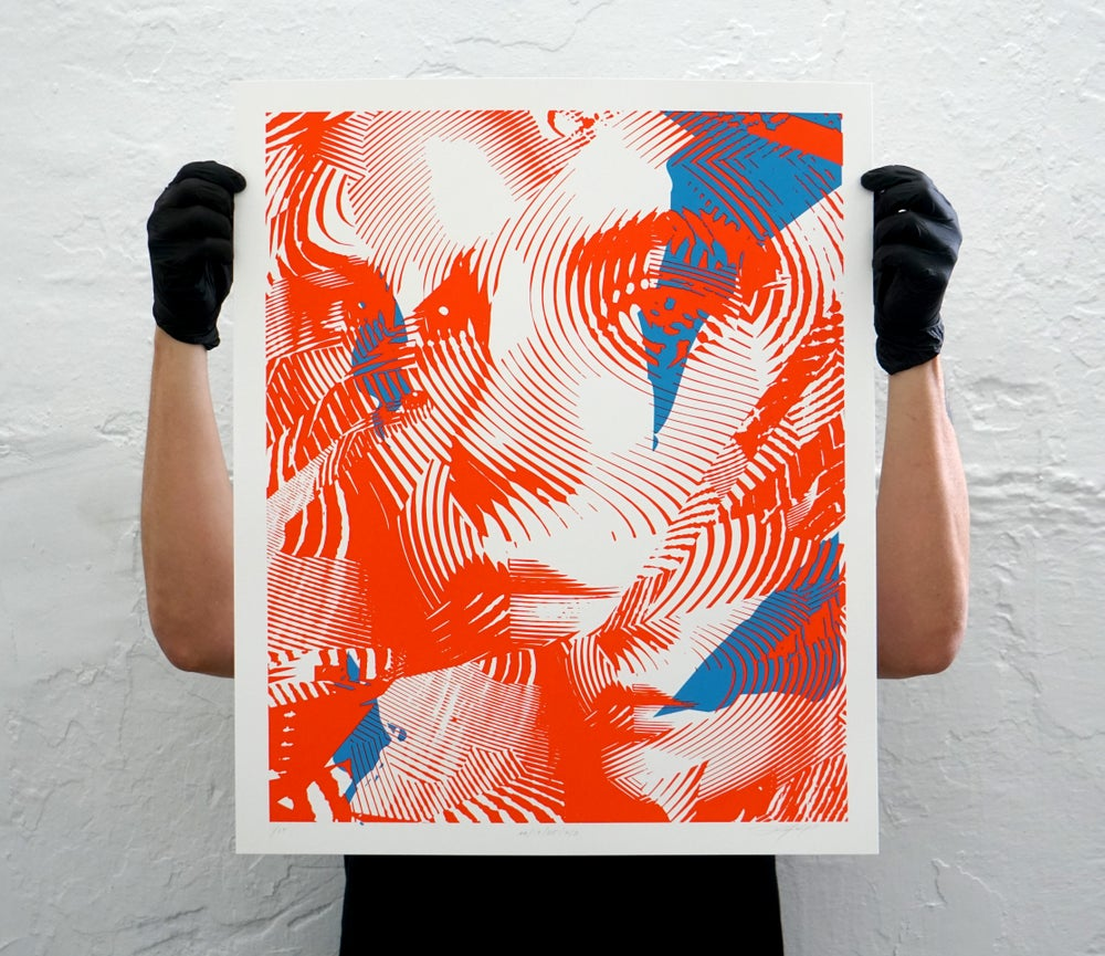 Image of PRINT 2AA/005 / RED / BLUE