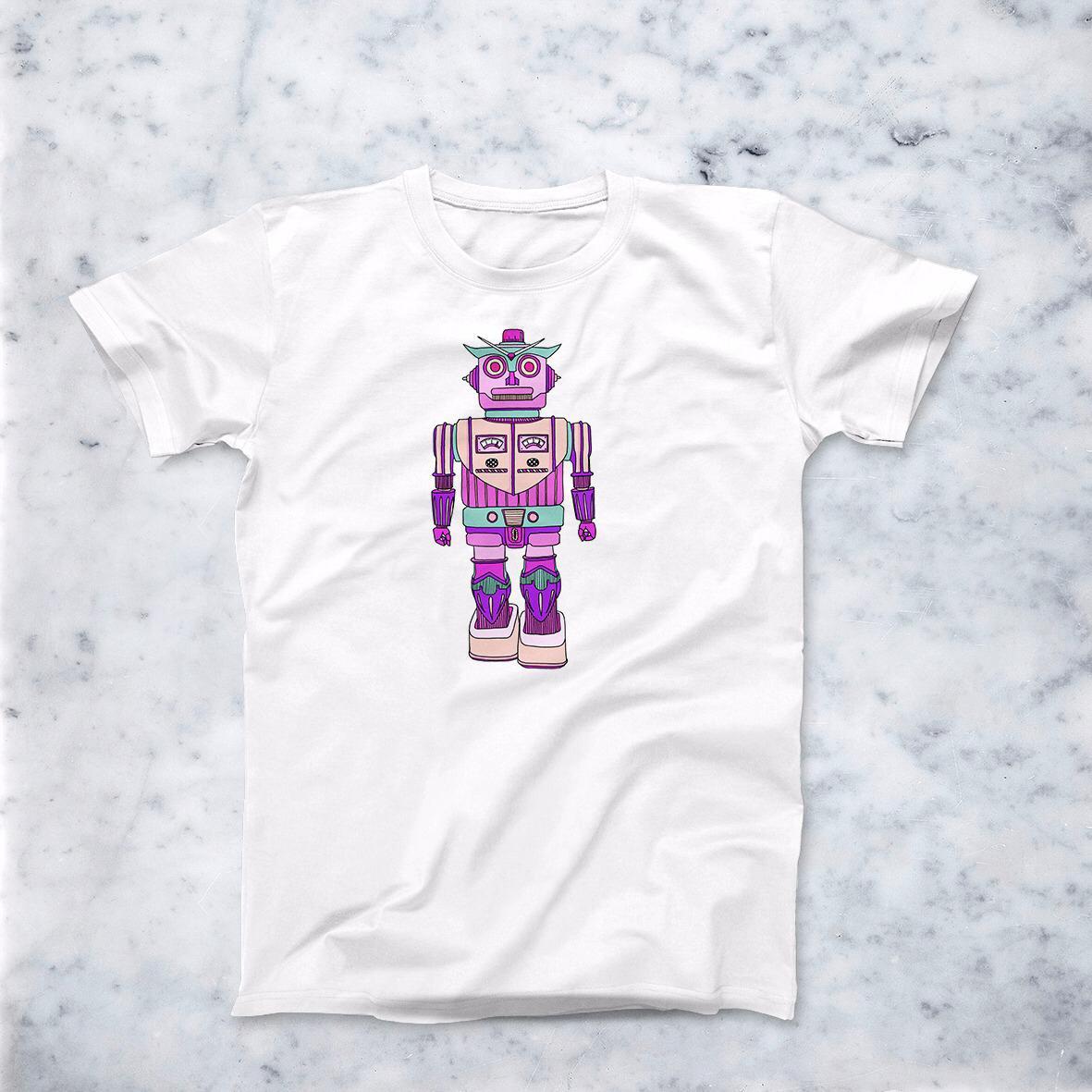 Image of T-Shirt Robot Rosa