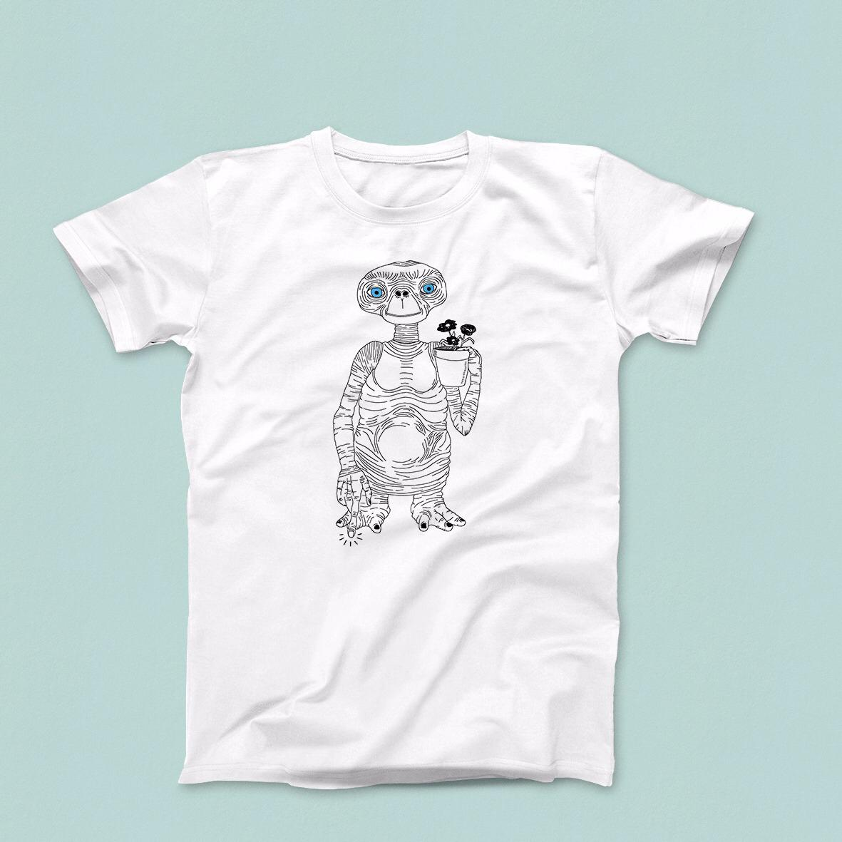Image of T-Shirt E.T. Extraterrestre