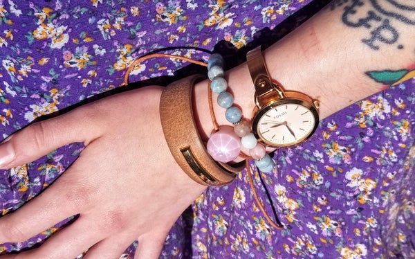 "Image of ""Flower Cut"" Adjustable Bracelet in Pink Cadillac"