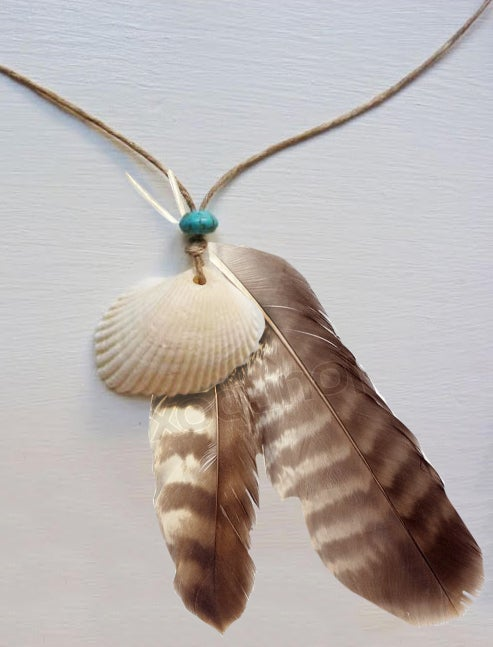 Image of Shell Feather Necklace