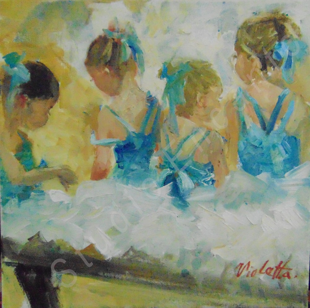 Image of Ballerinas in Sky Blue by Violetta Chandler