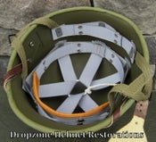 Image of WWII Replica M2 Airborne Helmet Liner Hawley Paratrooper (B)