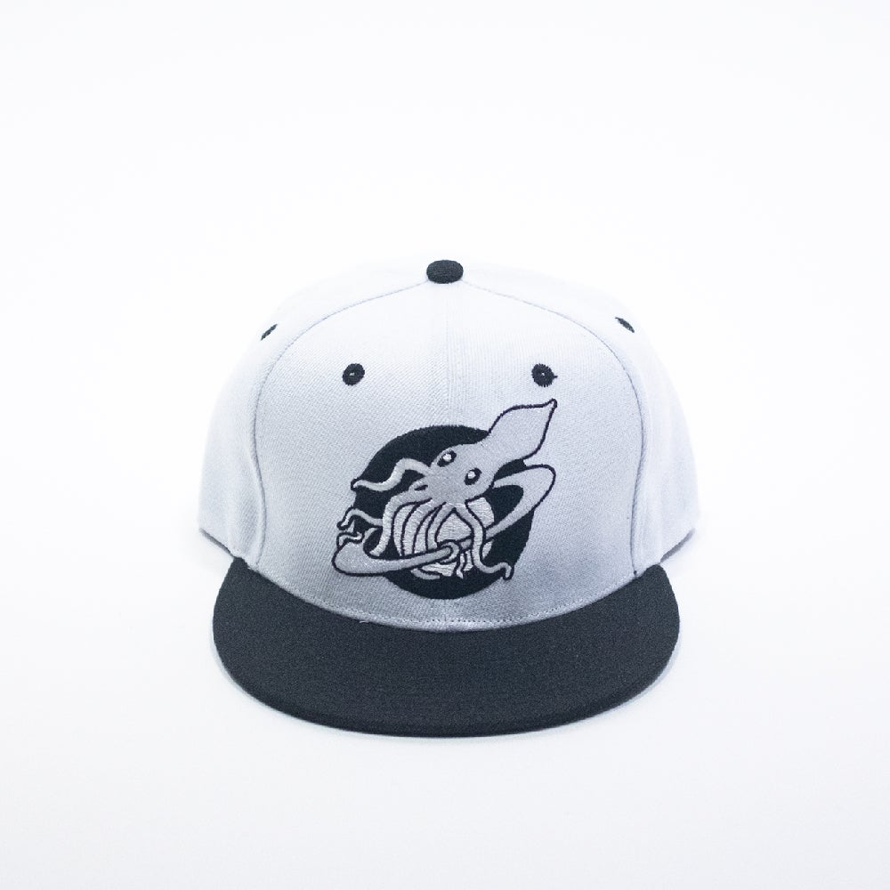 Image of Custom Black and White Logo Cap