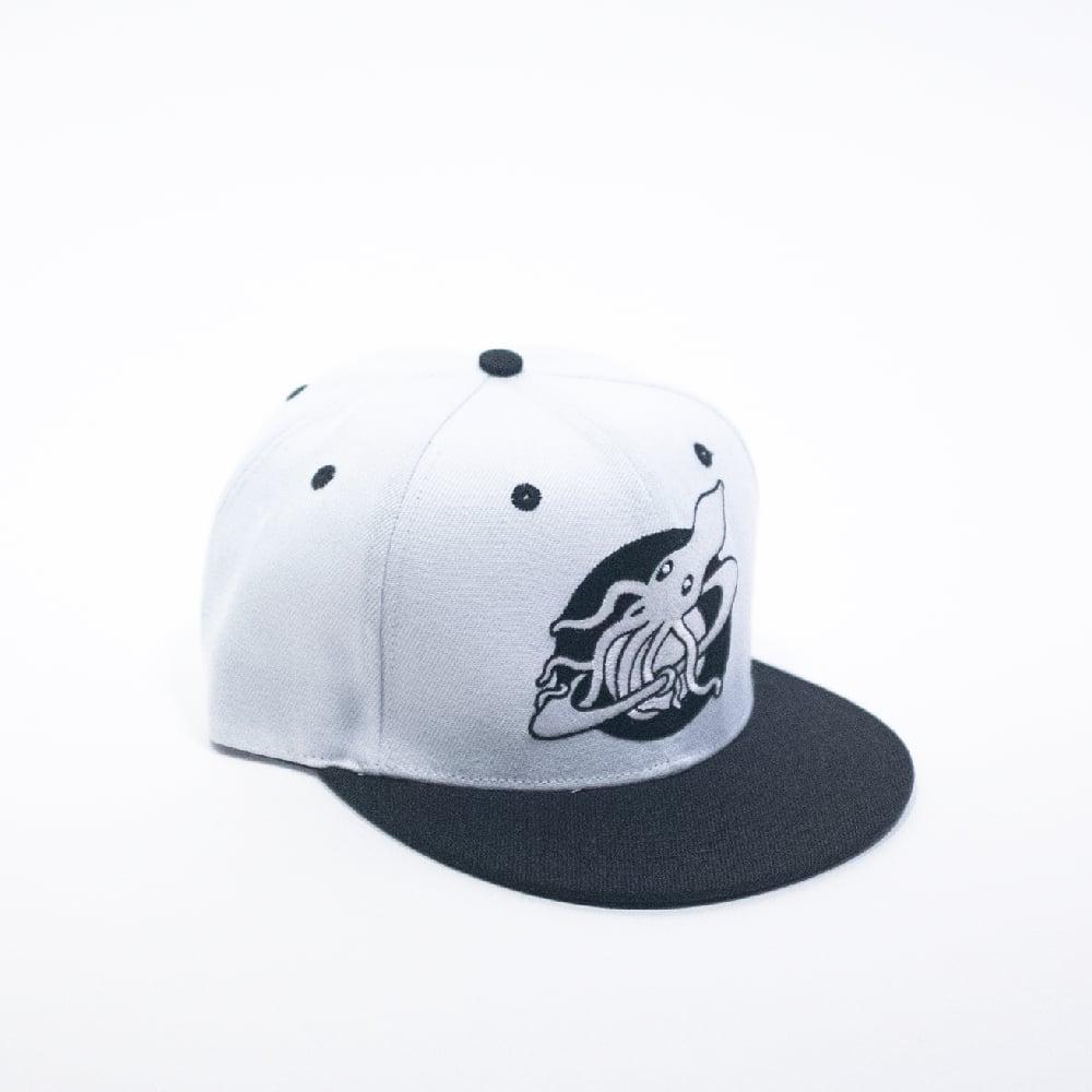 Image of Custom Black and White Logo Cap
