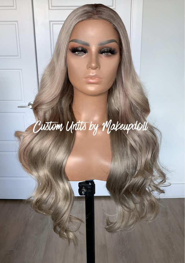"Image of Ash Blonde Body Wave 26"" Lace Frontal Wig!"