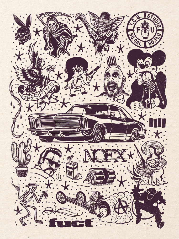 Image of RIVIERA Tattoo Flash 18x24 inch print by Ed Hume