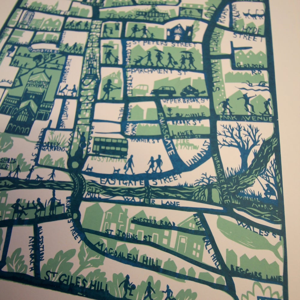 Image of Winchester Map Screen Print