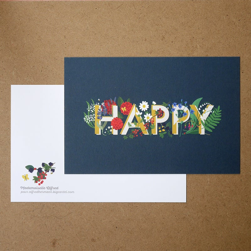 Image of Carte postale « Happy »
