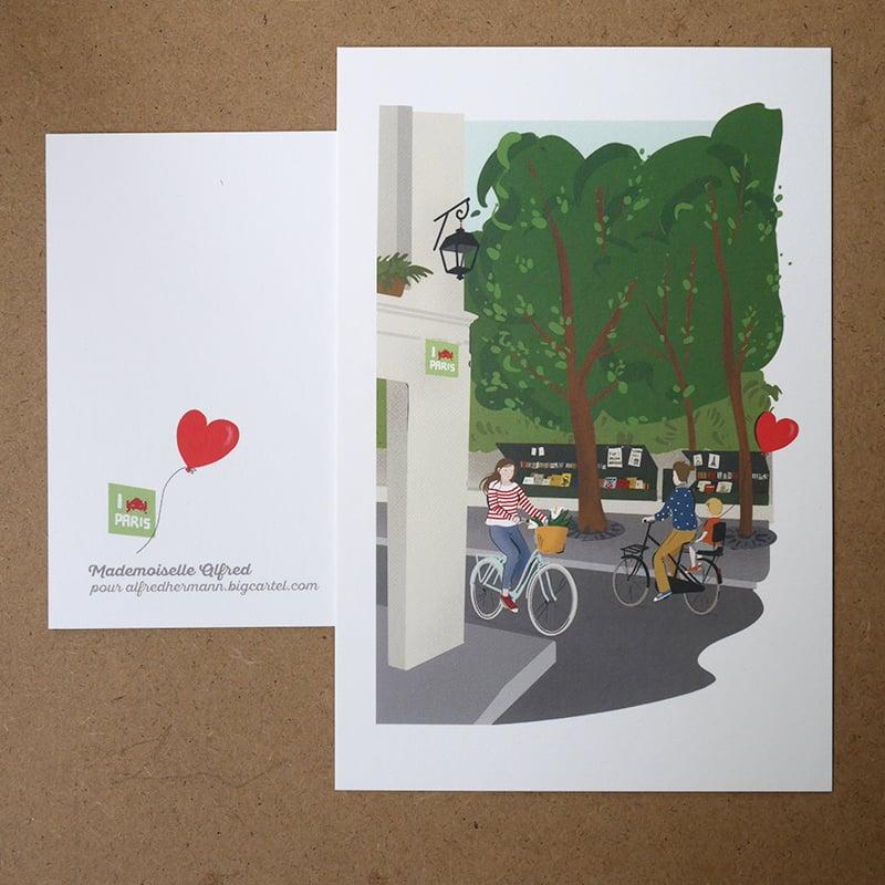 """Image of Carte postale """"Paris, les bouquinistes"""""""