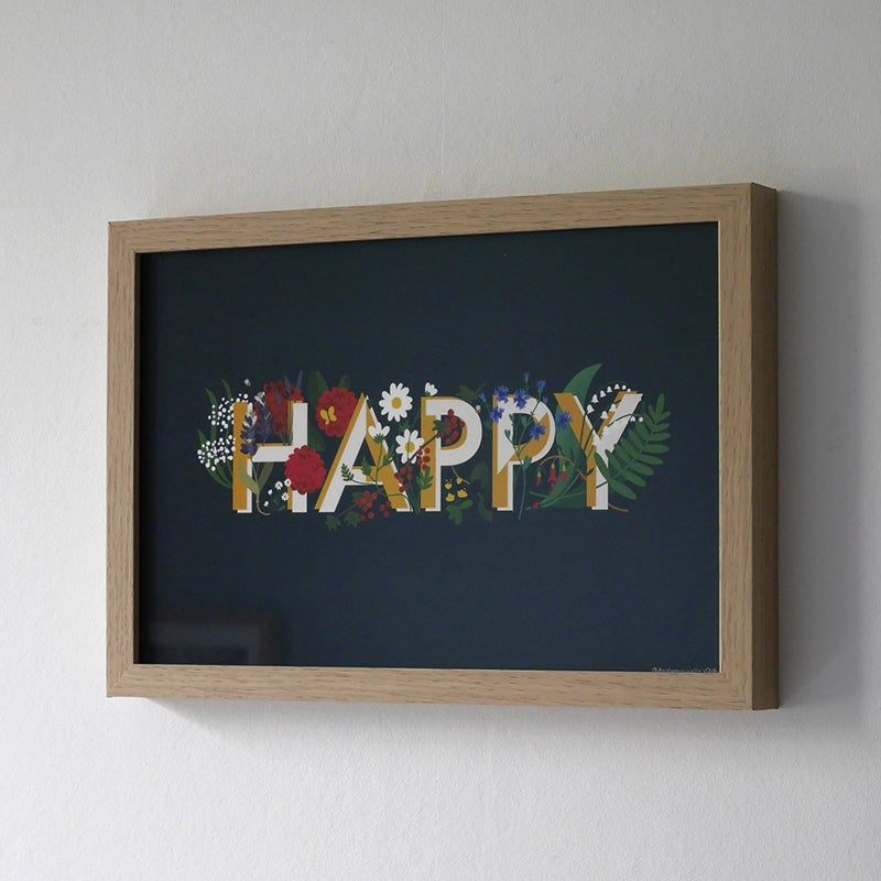 "Image of Affiche ""Happy"""