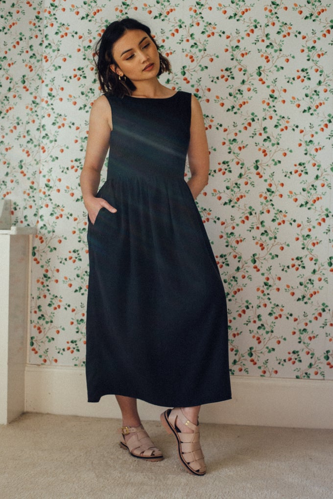 Image of JUDE black tencel dress