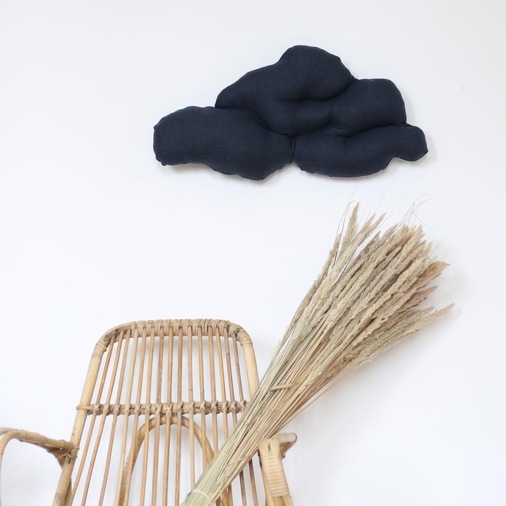 Image of Coussin nuage bleu nuit