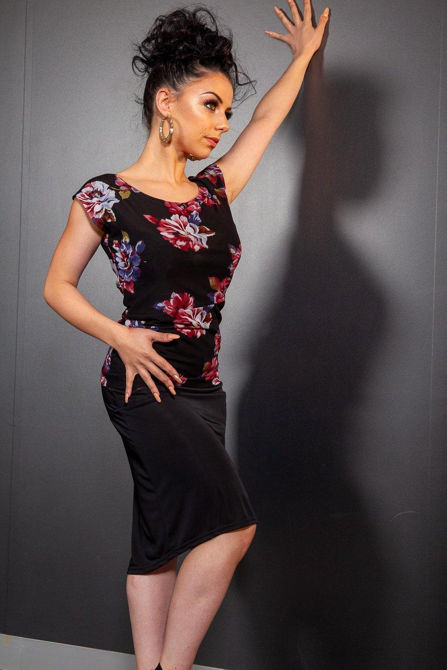 Image of Yulette Top (E7152/E17152) Camellia Dancewear latin ballroom