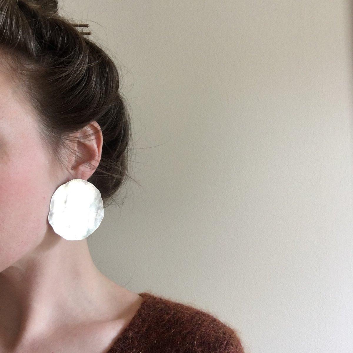 Image of XL sterling luna earring