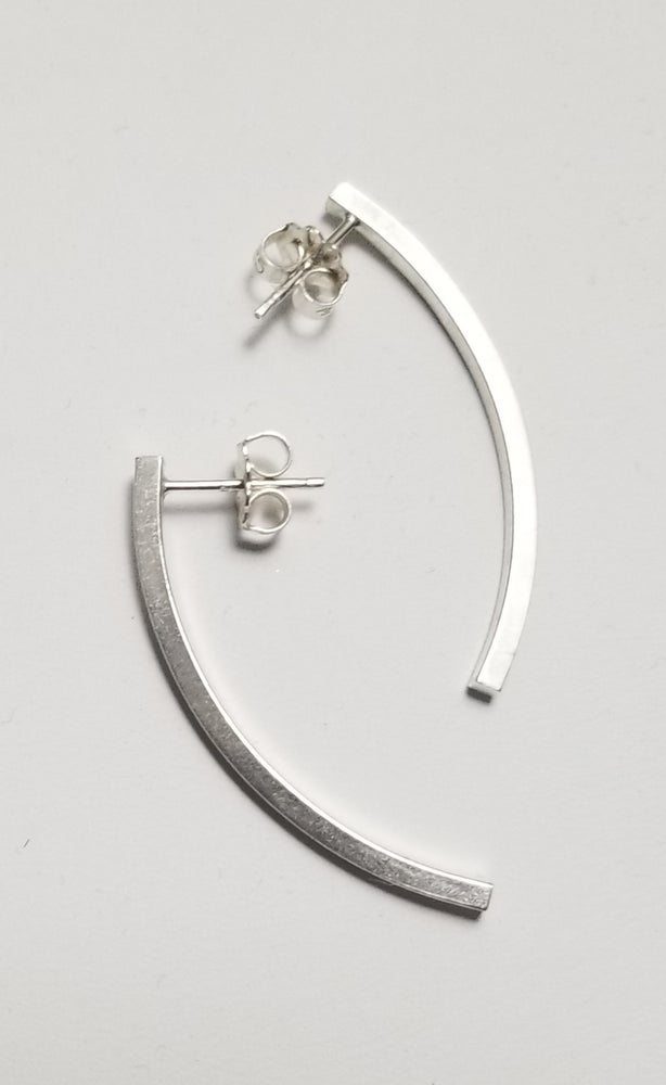 Image of long arc earrings