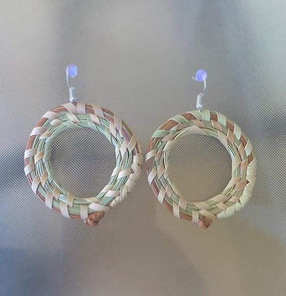 Image of Sweetgrass & Pine Knot Hoop Earrings