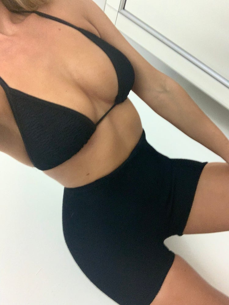 Image of Black Triangle Skirt OR Shorts Co-Ord