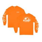 Image of 90East Global Long Sleeve Tee Orange