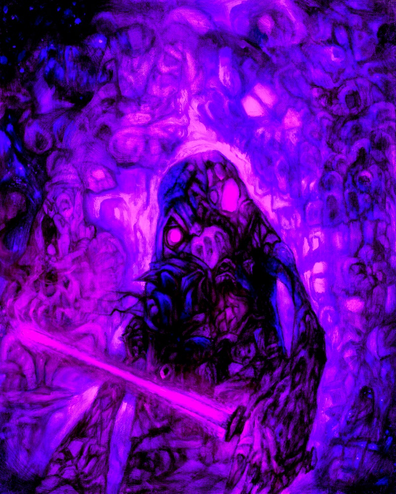 Image of Vader (Cotton Candy theme) Signed Art Print